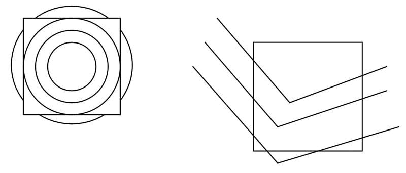 Иллюстрация иллюзии Цельнера